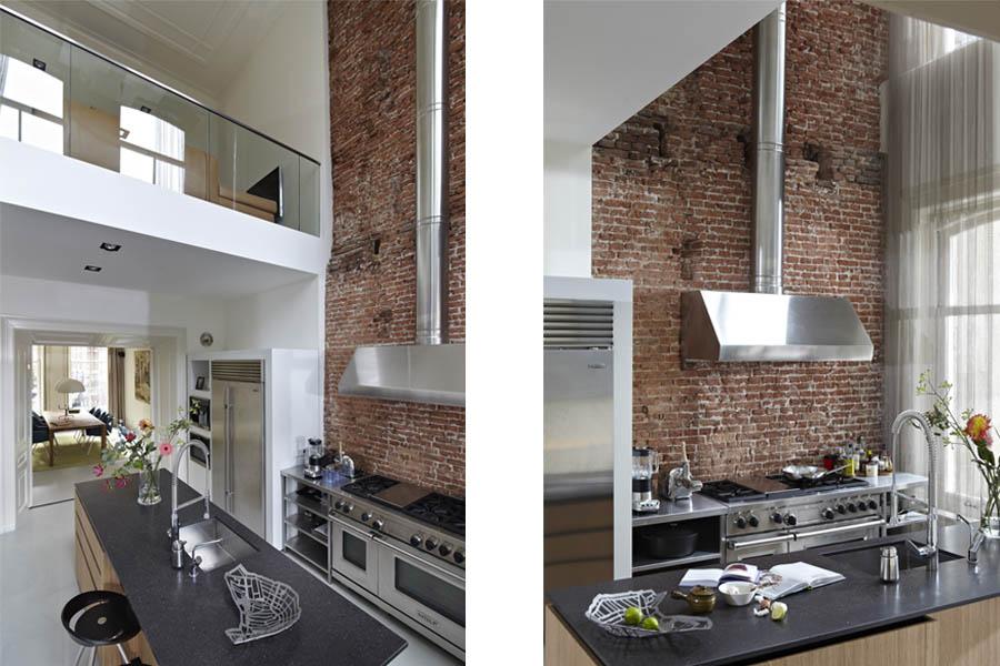 Industriele Keuken Particulier : Renovatie interieur herenhuis vondelpark Amsterdam West